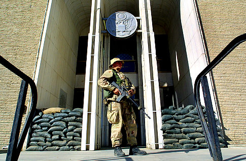 Marine Guard at US Embassy in Kabul