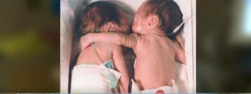 Preemie Twins Hug Screen Shot