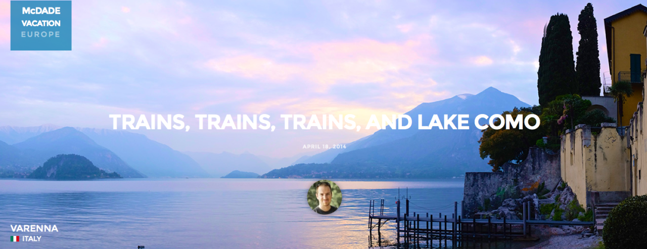 Lake Como Screen Shot