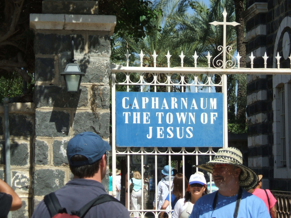 Capharnaum Called Jesus Town for Tourists/Pilgrims