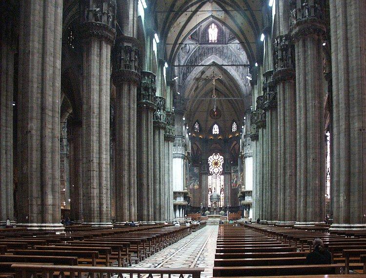 Milan Cathedral interior nu blufton.com