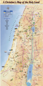 Christian Pilgrim's Map of all of Israel