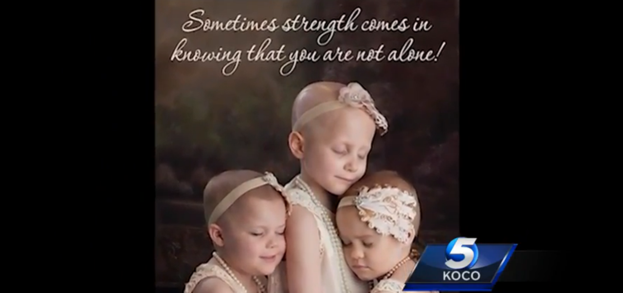 Three young cancer survivors.