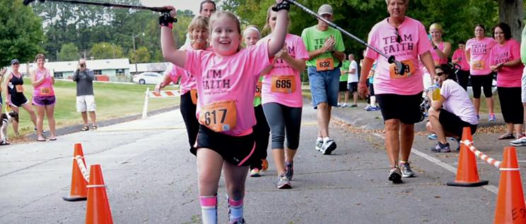 Faith Finishes 5K Run