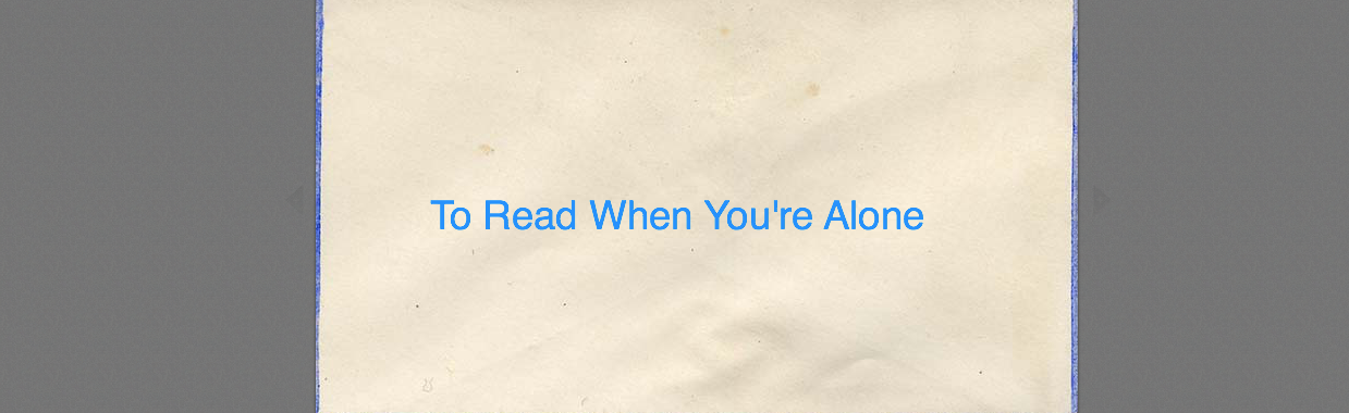 To Read When You're Alone