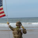The Inspirational Saluting Boy on Omaha Beach