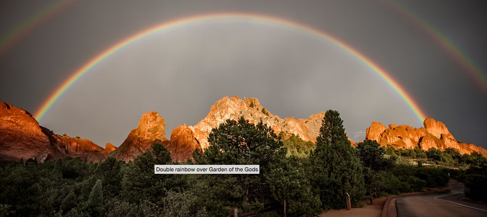 Garden of the Gods Rainbow by Raymond Larose