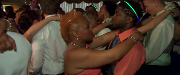 Son and Mom at the Prom