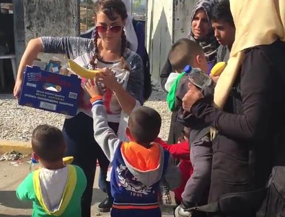 Milani Distributing Food She Bought