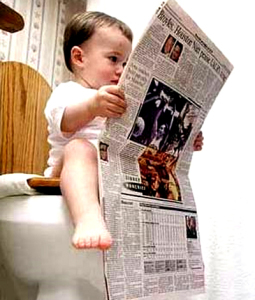 clever-baby-reading-newspaper