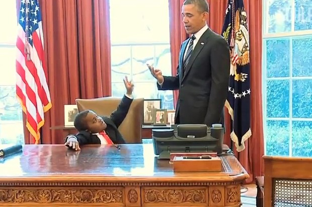 Kid President with Obama