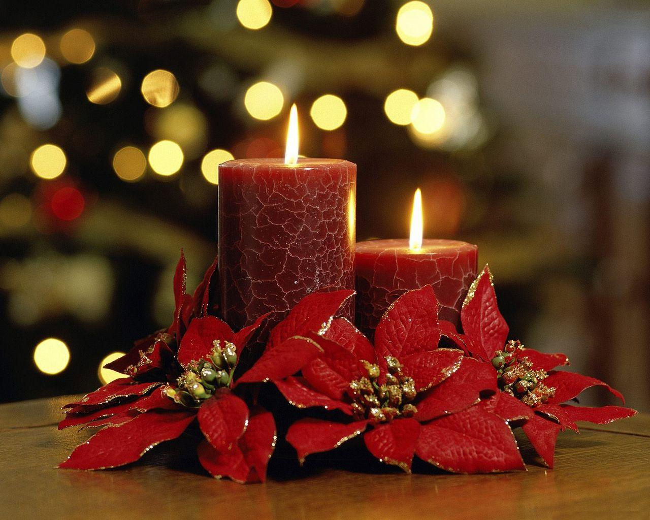 Candle Christmas Flower