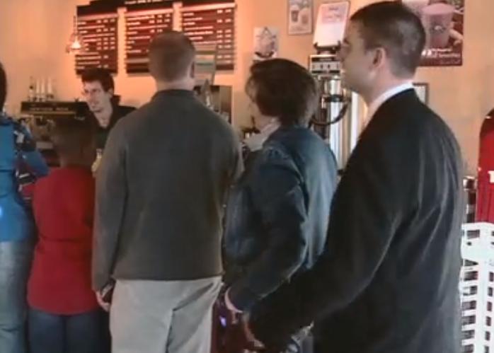 Standing in Coffee Line Screen Shot