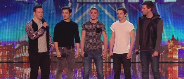Collabro Band on Britain's Got Talent Screen Shot