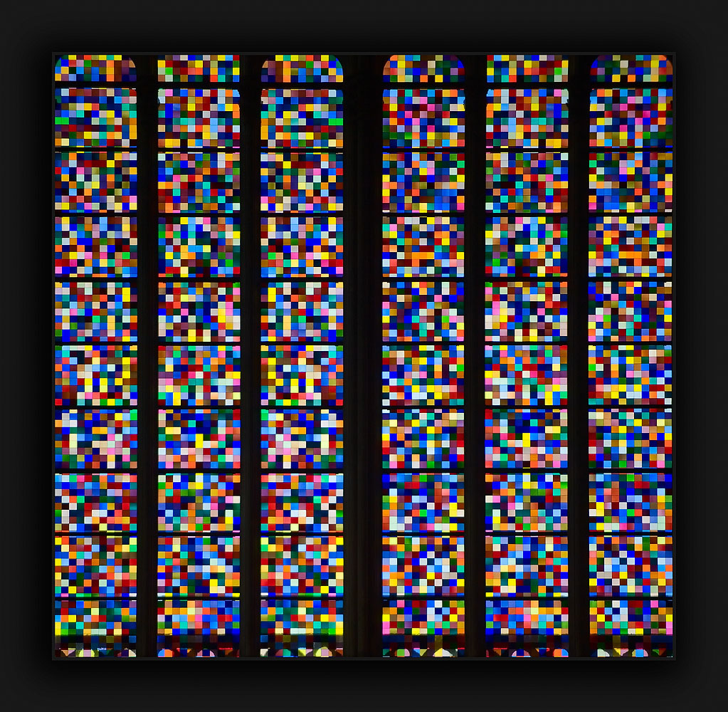 Cologne Cathedral Pixillated Stained Glass Replacement Window by www.pbase.com