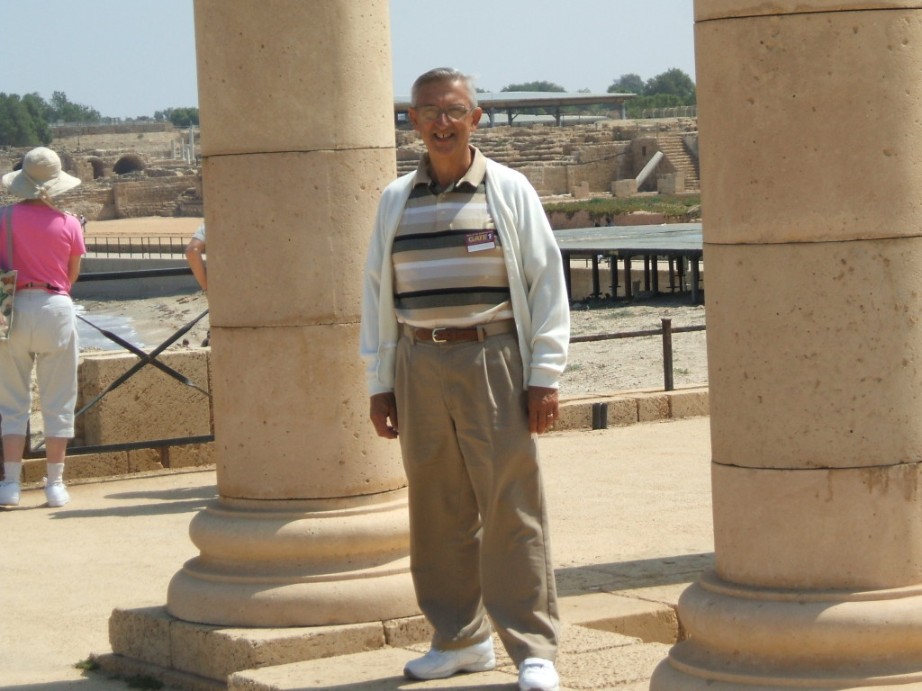 That's Me Next to Large Palace Columns