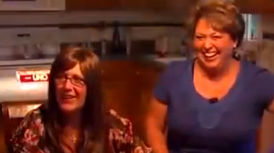 Wesley's Mom (left) and Tricia Seaman (right)