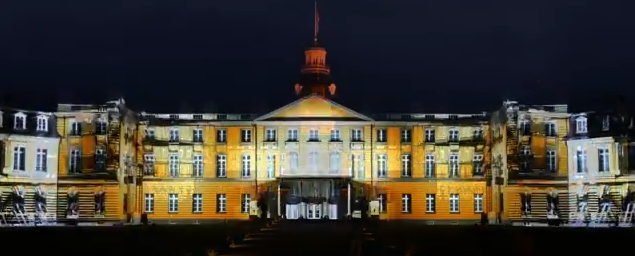 300 Fragments - Projection Mapping on Palace of Karlsruhe for KA300