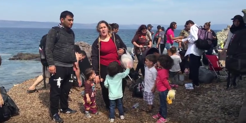 Refugees Arriviing from Turkey