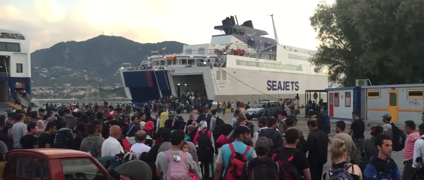 Transfering from Lesbos to Mainland Greece