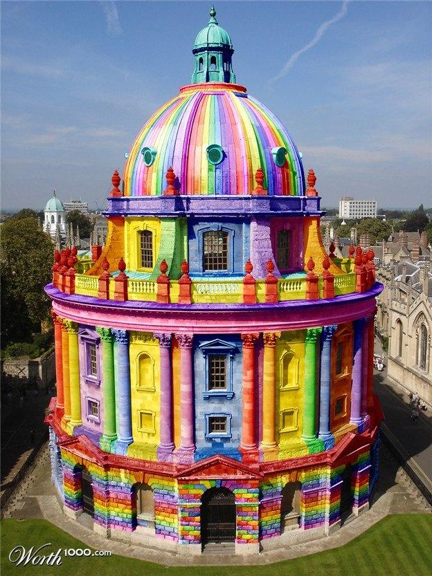 The rainbow Church Found on illustration.worth1000.com