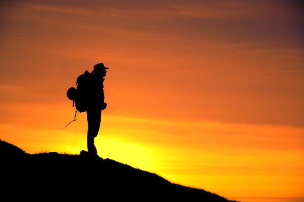 Walking at Sunset 2